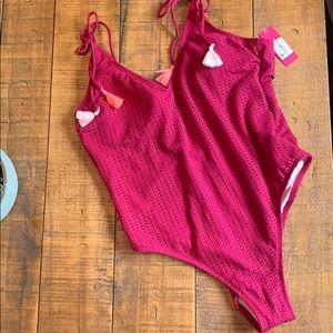 NWT eyelet tassel bathing suit target